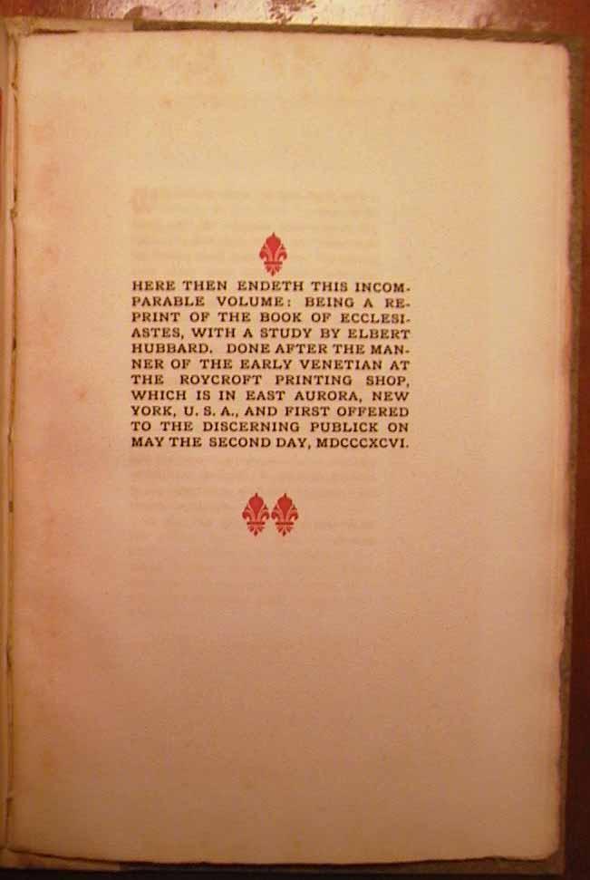 1896 roycroft books