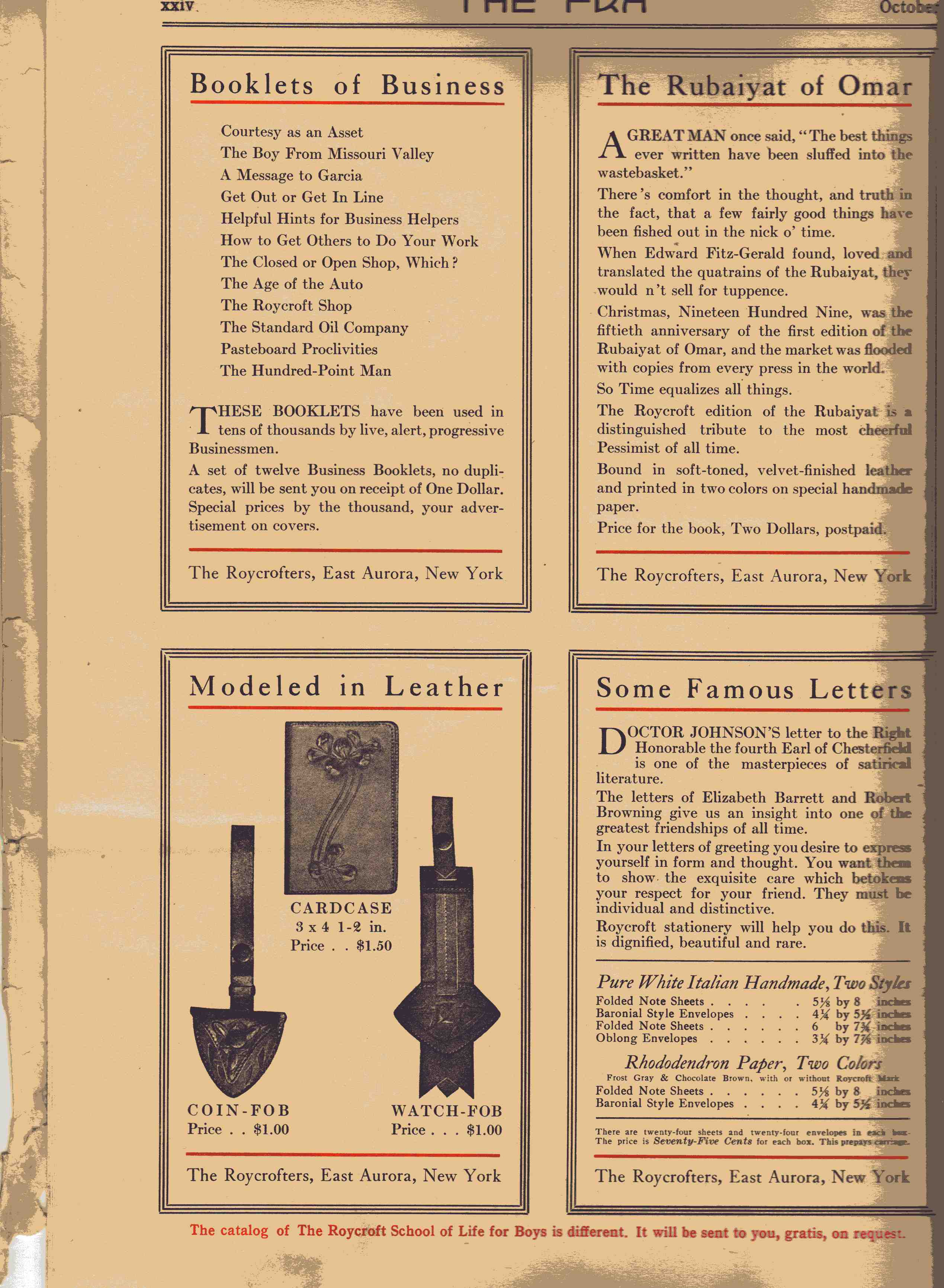 a letter to garcia elbert hubbard and the roycroft print shop